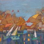 Olga Verykaki Port mixed media 60 X 80 cm 2012 / Όλγα Βερυκάκη Port μικτή τεχνική 60 X 80 εκ 2012