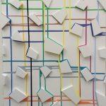 Olly Fathers Colourful trips Mdf & acrylic on mdf  80 X 60 Χ 4 cm / Olly Fathers Πολύχρωμα ταξίδια Mdf & ακρυλικό σε mdf  80 X 60 Χ 4 εκ