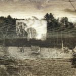 "Thodoris Zafeiropoulos The arche of an archival archive ΙΙ ""The arche of an archival archive II"", 2014  Digital montage of 50 images, Laser carving on oak, 50X80 cm / Θοδωρής Ζαφειρόπουλος Η αρχή ενός αρχειοποιημένου αρχείου ΙΙ ""Η Αρχή ενός Αρχειοποιημένου Αρχείου II"", 2014  Ψηφιακό μοντάζ 50 εικόνων, χάραξη με Laser σε Δρύινο πάτωμα, 50X80 εκ"