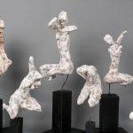 Kalliopi Lemos Figurine Series Steel skeleton, air drying clay and Japanese paper on wooden base, 2015 / Καλλιόπη Λεμού Σειρά Μικρών Γλυπτών Σκελετός από ατσάλι, πηλός και Ιαπωνικό χαρτί, σε ξύλινη βάση, 2015