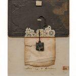Irini Gonou Book with talisman I paper, book cover, cotton twine  21,5X29,5 cm / Ειρήνη Γκόνου Βιβλίο με φυλαχτό Ι χαρτί, εξώφυλλο παλαιού βιβλίου, βαμβακερός σπάγγος  21,5X29,5 εκ