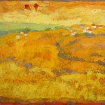 Irene Kana Cape at Chania Oil on canvas  100 X 120 cm / Ειρήνη Κανά Ακρωτήρι στα Χανιά Λάδι σε καμβά  100 Χ 120 εκ