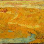 Irene Kana Old yellow mornings Oil on canvas  70 X 120 cm / Ειρήνη Κανά Παλιά κίτρινα πρωινά Λάδι σε καμβά  70 Χ 120 εκ