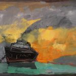 Irene Kana The ship remembers Oil on canvas  50 X 70 cm / Ειρήνη Κανά Το πλοίο θυμάται Λάδι σε καμβά  50 Χ 70 εκ