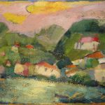 Irene Kana Hydra 10.30′ Oil on canvas  70 X 100 cm / Ειρήνη Κανά Ύδρα 10.30′ Λάδι σε καμβά  70 Χ 100 εκ