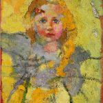 Irene Kana Girl Landscape Oil on canvas  70 X 50 cm / Ειρήνη Κανά Κοριτσάκι τοπίο Λάδι σε καμβά  70 Χ 50 εκ