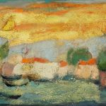 Irene Kana Returning Oil on canvas  40 X 60 cm / Ειρήνη Κανά Επέστρεφε Λάδι σε καμβά  40 Χ 60 εκ