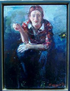 Χρήστος Παλλαντζάς, 25 Χ18 εκ, λάδι σε καμβά / Christos Pallantzas, 25X18cm, oil on canvas
