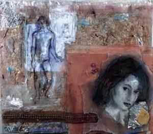 Εριέττα Βορδώνη, 37Χ42 εκ, μικτή τεχνική / Erietta Vordoni, 37X42cm, mixed media