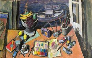 Pavlos Samios_Saturday afternoon, 55X85 cm, acrylic on canvas
