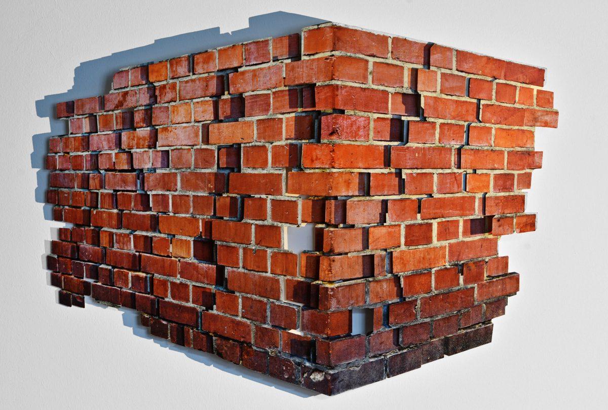 Fragment (Brick wall), archival print on fine art paper, 74x55x5 cm, 2017