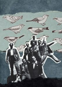 Gülsün Karamustafa, Istanbulites 1, Paper collage, 21x29 cm