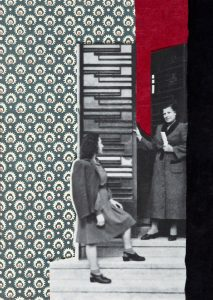 Gülsün Karamustafa, Istanbulites 8, Paper collage, 21x29 cm