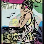 Gülsün Karamustafa, Monthly Illustrated 3, 2018, Under glass print, collage, 85x65 cm