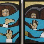 Gülsün Karamustafa, Promised Paintings 3, 2019, acrylic on canvas, 35x50cm Karamustafa, Promised Paintings 1-2, 2019, Acrylic on canvas_50x80cm