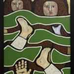 Gülsün Karamustafa, Promised Paintings 3, 2019, acrylic on canvas, 35x50cm