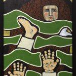 Gülsün Karamustafa, Promised Paintings 4, 2019, acrylic on canvas, 35x50cm