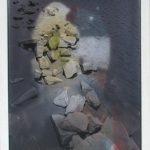 Thodoris Zafeiropoulos Landscape is not innocent UV print & acrylics on linoleum  50 X 35 cm / Θοδωρής Ζαφειρόπουλος Το τοπίο δεν είναι αθώο εκτύπωση σε UV & ακρυλικά σε linoleum  50 X 35 εκ