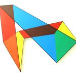 Olly Fathers Theoretically colourful paths Acrylic on canvas  77X 85 X 3.5 cm / Olly Fathers Θεωρητικά πολύχρωμα μονοπάτια Ακρυλικό σε καμβά  77X 85 X 3.5 εκ