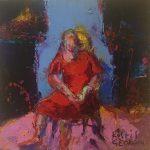 Kostis Georgiou Untitled Oil on canvas,  25 X 25 cm / Κωστής Γεωργίου Άτιτλο Λάδι σε καμβά,  25 Χ 25 εκ