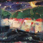 Irene Kana Fiscardo at Night oil on canvas, 40 X 50 cm / Ειρήνη Κανά Φισκάρδο τη Νύχτα Λάδι σε καμβά, 40 Χ 50 εκ