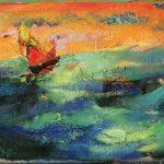 Irene Kana Red Oil on canvas, 50 X 70 cm / Ειρήνη Κανά Κόκκινο Λάδι σε καμβά, 50 Χ 70 εκ