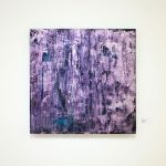 David Benforado Purple Iridescence Oil on canvas  60X60 cm / David Benforado Μωβ ιριδίζον Λάδι σε καμβά  60X60 εκ