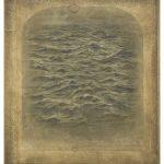 Miltos Pantelias Folds of Sea I Acrylics, pencils and paper on linen  75 X 65 cm / Μίλτος Παντελιάς Πτυχώσεις θάλασσας V Ακρυλικά, μολύβια και χαρτί σε ξύλο  38 Χ 31 εκ