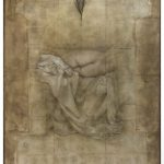 Miltos Pantelias Unfolding III Acrylics, pencils and paper on linen  220 X 160 cm / Μίλτος Παντελιάς Απόπτυγμα ΙΙΙ Ακρυλικά, μολύβια και χαρτί σε λινό  220 X 160 εκ