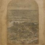 Miltos Pantelias Folds of Sea V Acrylics, pencils and paper on wood  38 X 31 cm / Μίλτος Παντελιάς Πτυχώσεις θάλασσας ΙV Ακρυλικά, μολύβια και χαρτί σε ξύλο  38 Χ 31 εκ