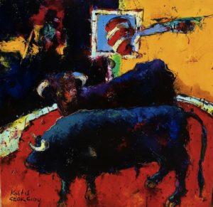 Κωστής Γεωργίου, 60Χ60 εκ, λάδι σε καμβά/ Kostis Georgiou, 60x60cm, oil on canvas