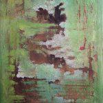 Μαρία Πασχαλίδου/ Maria Paschalidou Πράσινα Νερά/ Green Water 110X77 cm