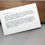 Maria Tzanakou The Lion, 2013, text sculpture, text on paper and graphite, 29 x 5 x 2 cm