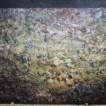 """P.Famelis_""""Untitled : dark Sky, draft 3"""", 2016, oil on canvas on wood, 170 x 200 cm"""