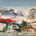 Dimitris Koukos, CompositionII, 70Χ100, acrylic on canvas