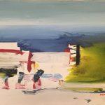 Dimitris Koukos,Composition I, 70x100 cm, acrylic on canvas