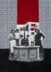 Gülsün Karamustafa, Istanbulites 6, Paper collage, 21x29 cm