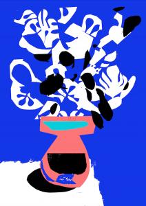 Φίλιππος Θεοδωρίδης Philippos Theodorides blue vase