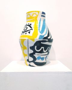 Φίλιππος Θεοδωρίδης Philippos Theodorides ceramic vase eye